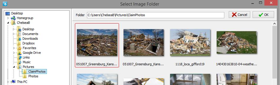 Simsol Photo Guide 5 b. When browsing for your image location, you ll want to note you will not be selecting the images themselves, only the folder they are residing in.