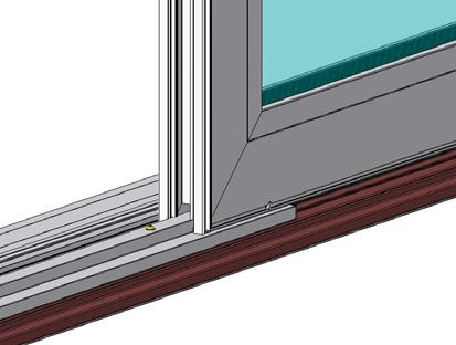 12) Slide the T-shaped insert into the fabricated end of each fixed panel support as shown (Fig. 15).