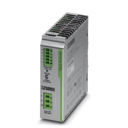Extract from the online catalog TRIO-PS/1AC/24DC/ 5 Order No.: 2866310 DIN rail power supply unit, primary-switched mode, 1-phase, output: 24 V DC / 5 A Commercial data EAN 4046356046640 Pack 1 pcs.