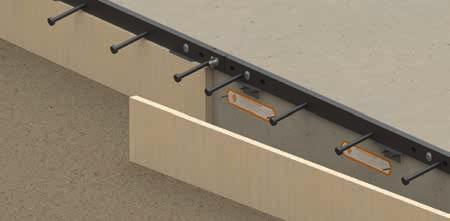 Set string line along the joint path and position the first length of wooden formwork with ArmourMate and dowel sleeves.