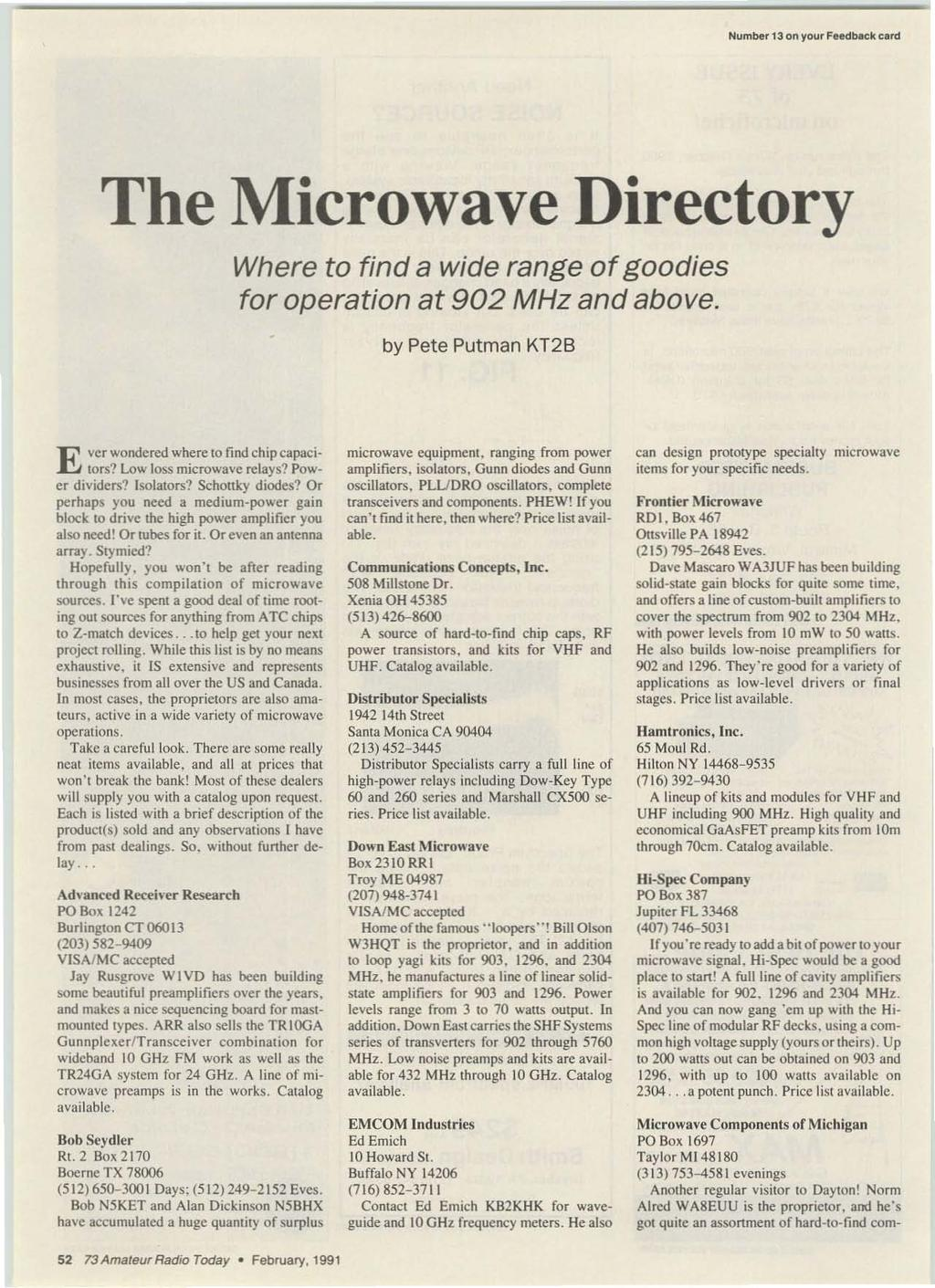 February 1991 Issue 365 Usa 295 Can395 A Wge Publication I R Alf 3d Printer Ramps 14 Board Numbe 13 On Your Feedbeck Card The Micro W V E Director Y Where To Find
