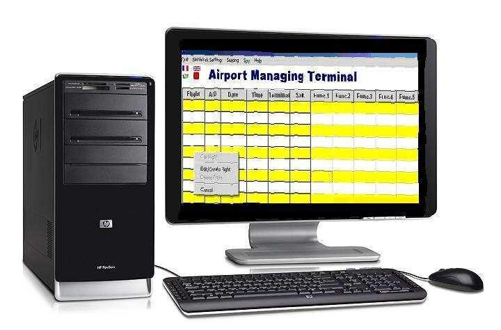 3.10 Flight Management Terminal Figure 3-12 : Flight Management console The flight management unit is able to create, delete and/or register directly terminals to flights.