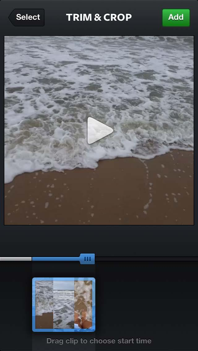 i. Drag the box containing stills from your video left and right to adjust the starting time of your video. ii.
