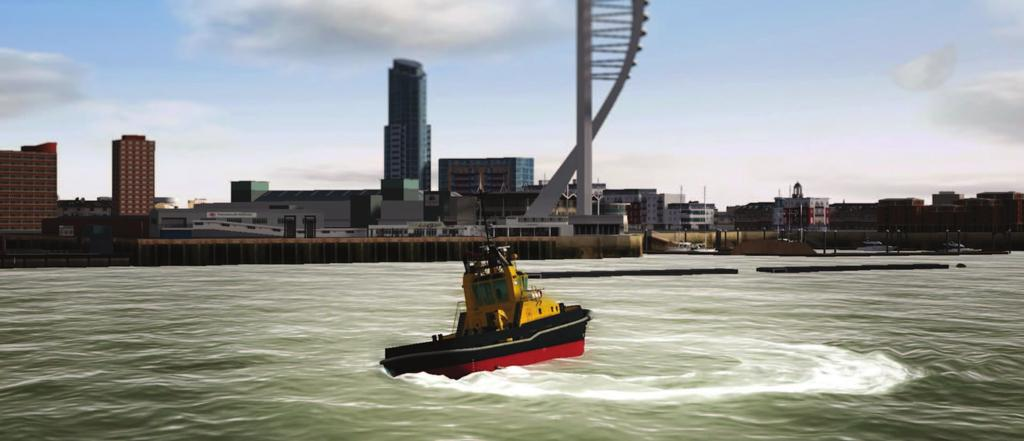 TRANSAS ASD TUG SIMULATOR Transas, in conjunction with Seaways Ltd, have developed the advanced ASD tug simulator capable of training a range of functions.