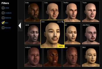 In a virtual world, real-time face detection will detect the presence of an avatar subject with a frontal to nearfrontal face in the field of view [9], similar to traditional face recognition.