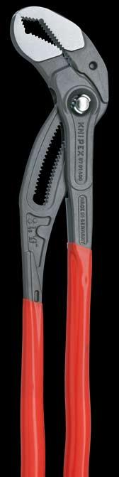 pump pliers of the same size 35 % lower weight than a 1 pipe
