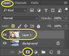 Note: This can also be done by navigating to the Layers Menu, select Layer Mask, and then choose Reveal all.