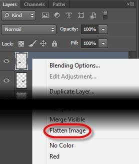 Flatten an Image Save a copy of your file as a.psd so you have access to the layers if you ever need them. Only flatten your files when you are certain editing is complete.
