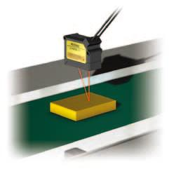 range Light waveform <<< DATUM tuning >>> When performing the DATUM tuning (reference surface calibration) with a target on a conveyor (background), the values are set slightly above and slightly