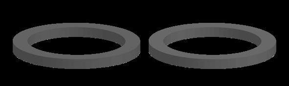PT-symmetric pair of ring