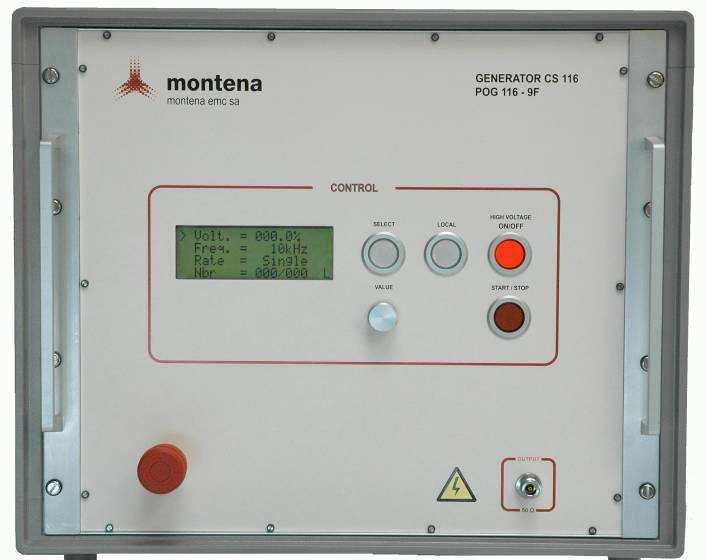 The generator can be controlled by the front panel or remotely from the control software. 4.