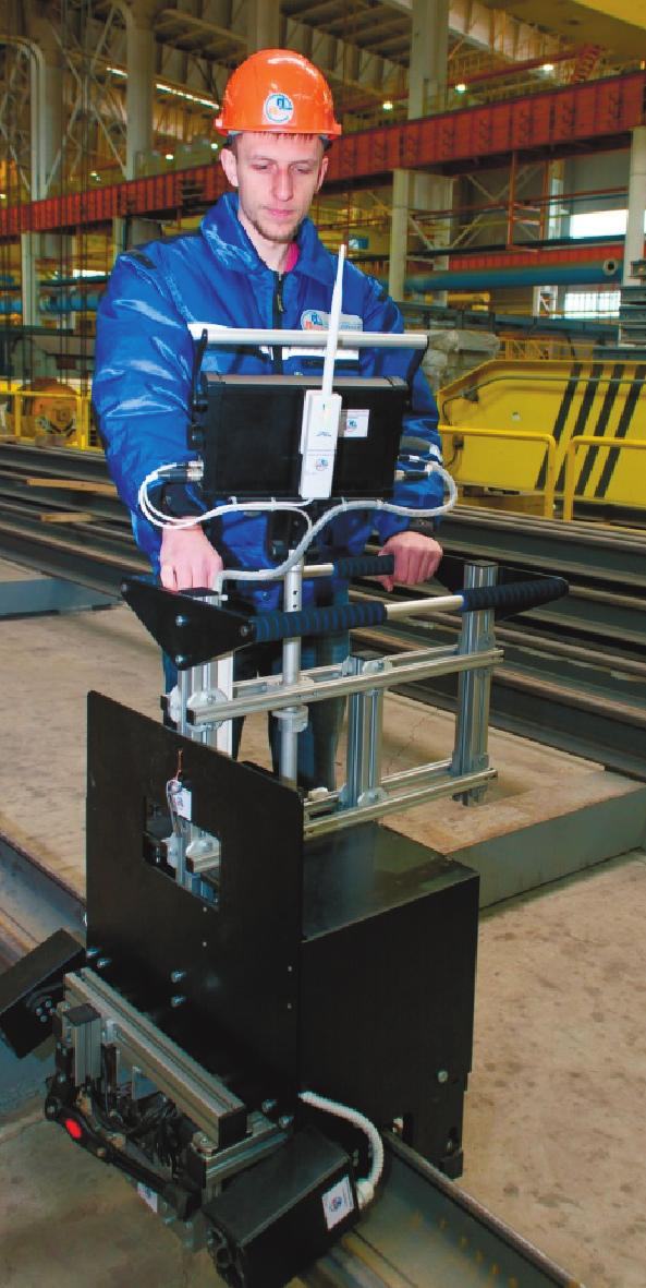 IMPLEMENTED CONFIGURATIONS Mechanized and automated eddy current testing of rails and profiled bars By designing special-purpose