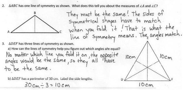 Lesson 13 Objective: Analyze and classify triangles based on side length, angle measure, or both.