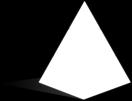 pyramid (noun) A pyramid is a 3D shape that is a
