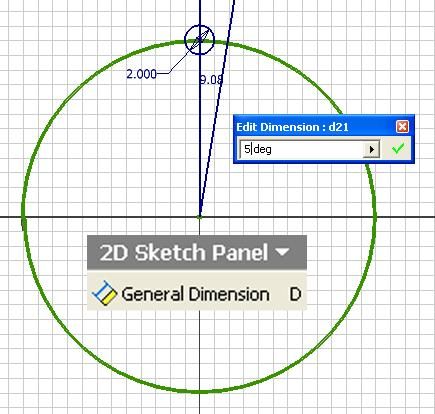Inventor (10) Module 1G: 1G- 16 Figure 1G-5D: Creating the 2.