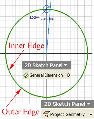 Inventor (10) Module 1G: 1G- 17 Figure 1G-5F: The inclined line appearing to be tangent to