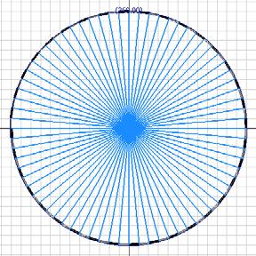 Inventor (10) Module 1G: 1G- 20 Figure 1G-5R: All radiating Circular Pattern lines selected.
