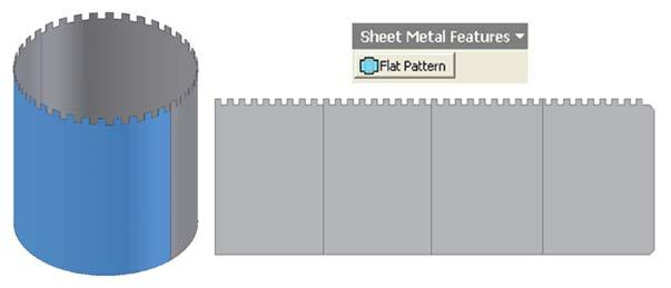 Inventor (10) Module 1G: 1G- 22 Figure 1G-6C: Creating the Flat Pattern view.