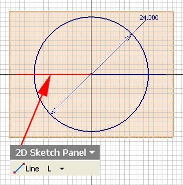 Inventor (10) Module 1G: 1G- 5 Figure 1G-3C: Creating the other horizontal line.