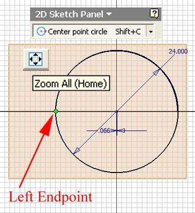 Next, use the Zoom Window tool to zoom in the area enclosing the 0.