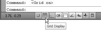 The Status Bar area is located at the bottom of the AutoCAD LT drawing screen.