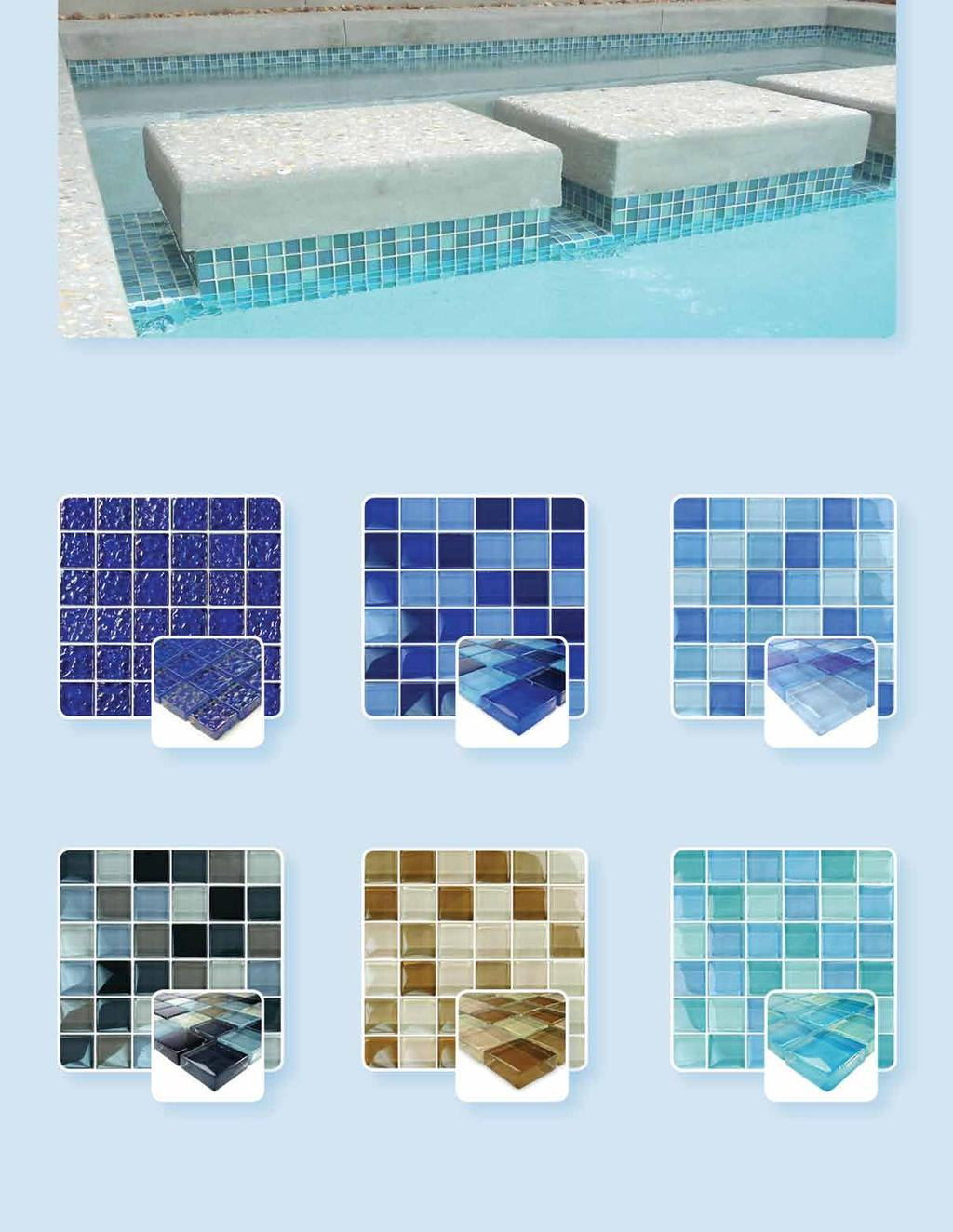 GC82323T1 Featured Sophisticated and Stylish Glass Tile Indulge yourself in the uncommon brilliance of glass mosaic tile by Artistry in Mosaics frost proof quality that will last a lifetime.