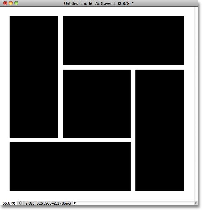 Finally, with the Shift key still held down, count out 10 rows of squares from the top of the shape and draw a selection around the 11th row, beginning from the right of the shape, leaving 10 squares