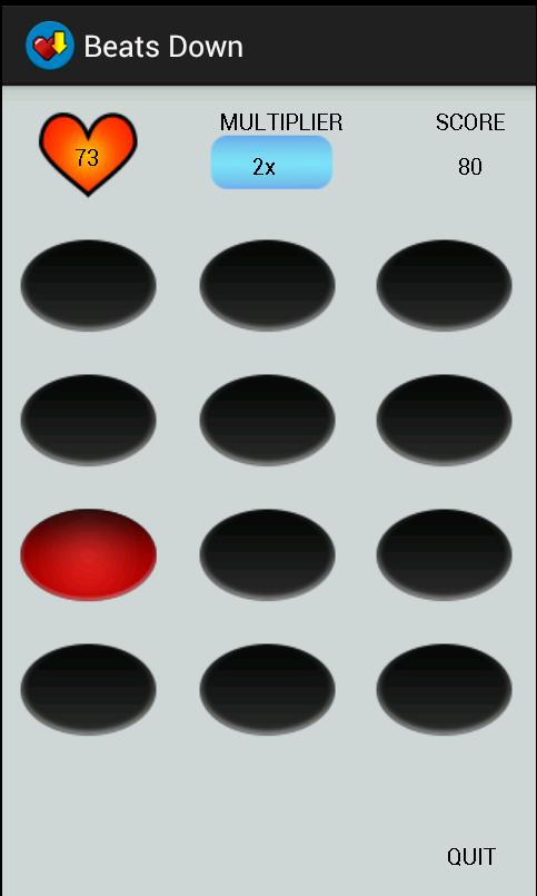 Beats Down: Using Heart Rate for Game Interaction in Mobile Settings 525 Fig. 1. Layout of Beats Down At the beginning, the player can choose between these three game modes.