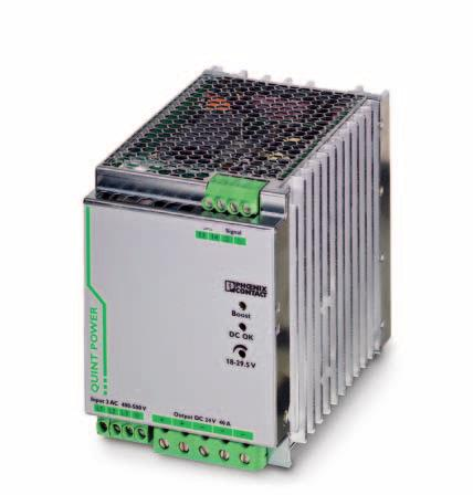 Primary-switched power supply unit with SFB technology, 3 AC, output current 40 A INTERFACE Data sheet 103133_en_00 1 Description PHOENIX CONTACT - 07/2009 Features QUINT POWER power supply units