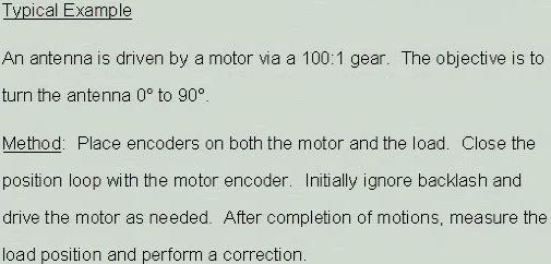 Final Point Correction drive the motor to approximate position check error drive again check