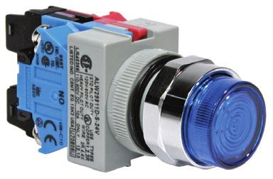 ømm - TW Series Illuminated Pushbuttons Extended Lens Transformer Contacts N-NC N Illuminated Pushbuttons (Assembled) Momentary ALW m n-k ALW m 0n-k ALW m 0n-k Maintained ALW m n-k ALW m 0n-k ALW m