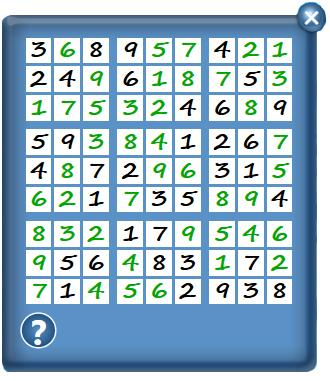 How to Play (continued) There is one unique solution for each puzzle. If the player has filled in each square but the congratulations does not appear, it means there is a mistake.