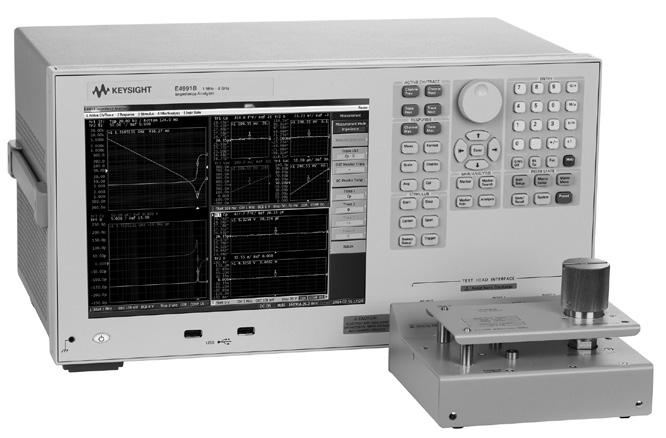 08 Keysight Accessories Catalog for Impedance Measurements - Catalog Up to 120 MHz (4-Terminal Pair) Test fixtures (4-Terminal pair) for impedance measurements up to 120 MHz