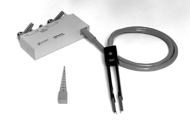 14 Keysight Accessories Catalog for Impedance Measurements - Catalog Up to 120 MHz (4-Terminal Pair): SMD continued 16334A Tweezers contact test fixture Terminal connector: 4-Terminal Pair, BNC DUT