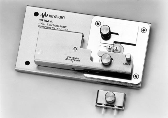 32 Keysight Accessories Catalog for Impedance Measurements - Catalog Up to 3 GHz (7 mm): SMD continued 16194A High temperature component test fixture Terminal connector: 7 mm DUT connection: