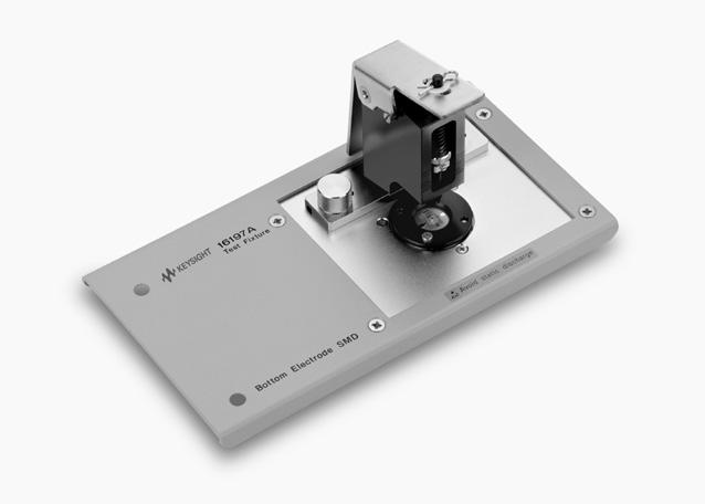 43 Keysight Accessories Catalog for Impedance Measurements - Catalog Up to 3 GHz (7 mm): SMD continued 16197A Bottom electrode SMD test fixture Terminal connector: 7 mm DUt connection: 2-Terminal