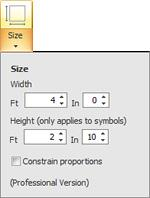 You can change the overall size of the symbol proportionally by adjusting the width and checking the Constrain Proportions check box.