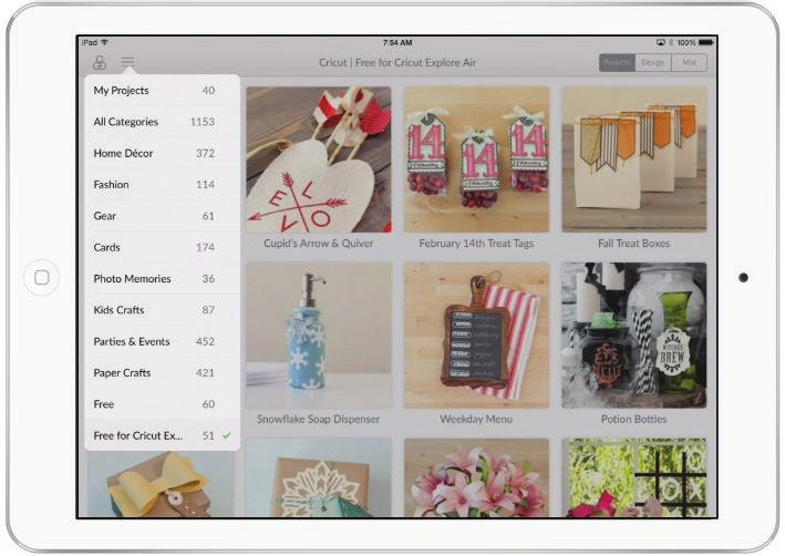 If a project was created using the Cricut Design Space app, a preview image will be displayed