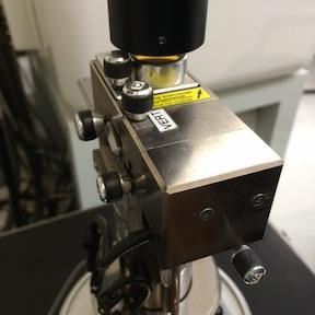 Click on the microscope icon on the software to initialize the system. On the Nanoscope software, change the profile to Contact Mode. (Microscope > Profile >!Contact AFM 3.