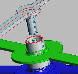 outside of the spindle it fits onto. Click on Center Axes.