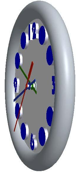 Point directly at the highlighted hand and drag it around the clock face. The hand should rotate, as you would expect the real clock to behave.