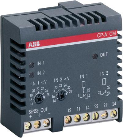 Control module 2CDC 271 002 F0t05 Features Pluggable onto redundancy unit CP-A RU Adjustable threshold values (14-28 V) and relay outputs per input / channel Approvals Marks g 6 7 1 3 4 2 8 5 Order