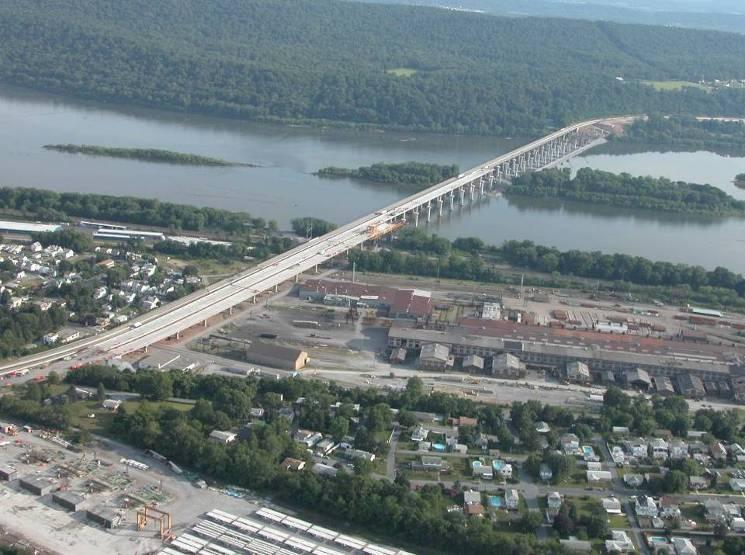 60 East End Calver Island West End Existing Bridge New EB New WB Casting Yard Twin Bridges with each: