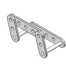 holes of the FLATBAR-3HOLE parts. Exercise 1.4b: ROCKER Assemby Physical Simulation.
