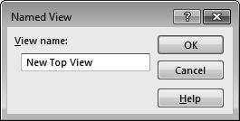 4. Saving a new named-view: - Custom views can be created and saved in the model or in an assembly so that they can be