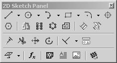 Lesson 6 2D Sketch Panel Tools Inventor s Sketch Tool Bar contains tools for creating the basic geometry to create features and parts.