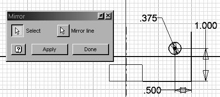Autodesk Inventor R8 Fundamentals 21. Select the Mirror tool.