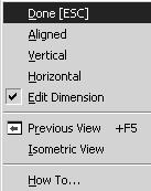 This submenu allows you to switch from Radius mode to Diameter mode simply by selecting that option.