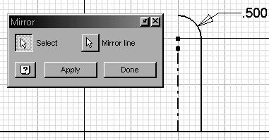 Highlight the line and select Centerline from the Style dropdown. 10. Create the sketch shown.