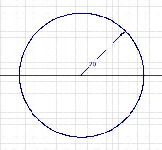 You can draw a circle by defining the center and the radius of the circle or by drawing a circle that is tangent to three specified lines. Both these methods of drawing the circle are discussed next.